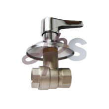 Brass ball valve with ornate cap